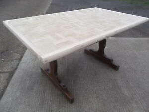 Oak-top-refectory-dining-table-stripped-top-square-design-top-seat-8-10