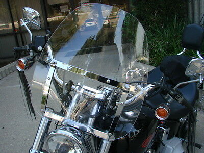 Windshield For Harley Heritage Springer Sportster Dyna Glide Softail Fx Fl Clear on sale