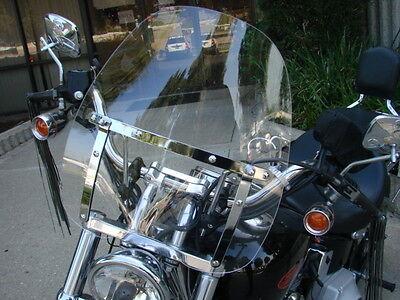 Windshield For Harley Heritage Springer Sportster Dyna Glide Softail Fx Fl Clear on Sale
