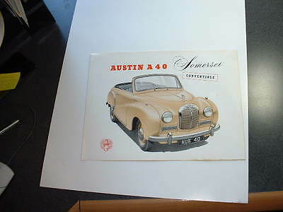 Austin A40 Somerset Convertible Sales Broch--