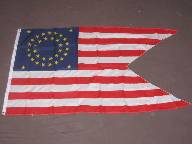 3X5 UNION CAVALRY GUIDON FLAG 35 STAR AMERICAN USA F802