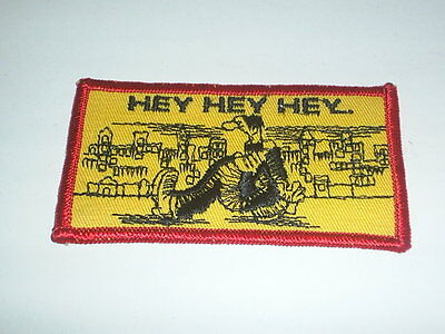VINTAGE R. ROBERT CRUMB HEY HEY HEY EMBROIDERED PATCH EARLY 70S UNUSED
