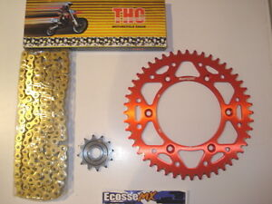 HONDA CRF/X450 THC CHAIN AND SPROCKET KIT RED RENTHAL