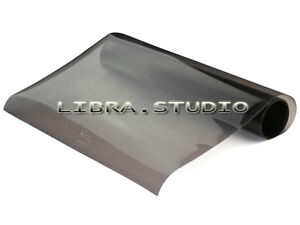 Grey-12-x48-Smoked-Fog-Light-Headlight-Tint-Vinyl-Film-Wrap-Sheet-30cmx120cm