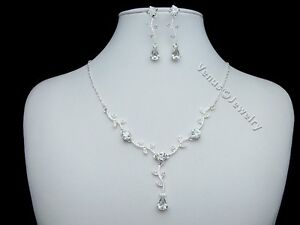 Bridal-Wedding-Prom-Crystal-Necklace-Earrings-Set-1246
