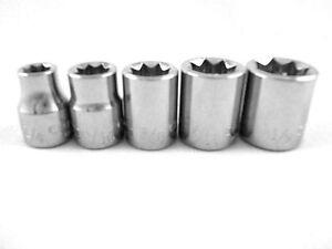 Craftsman-5pc-3-8-8-pt-STAR-Sockets-New-Tools-Bit