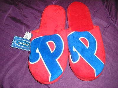 Philadelphia Phillies Mens Slip On Slippers  Logo
