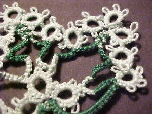 Tatted-Leaf-Green-Mint-Colors-New-for-Magnet-Scrapbooking-Crazy-Quilt-Tatting