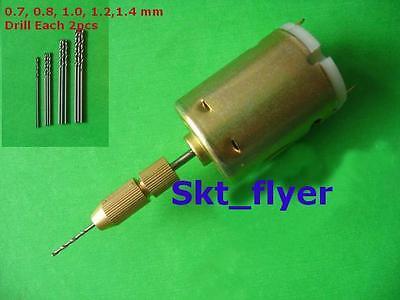 Small Pcb Drill Press Drilling With 10pcs Drills 0.70.81.01.21.4 Mm 12v