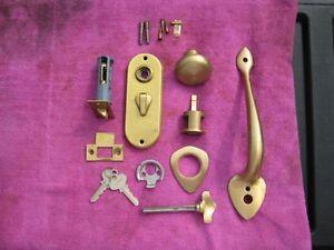 Vintage Brass Door Handle and Latch set