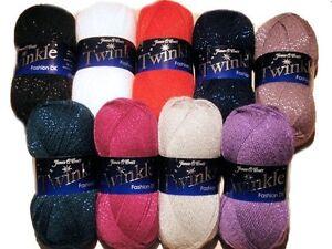 James-C-Brett-Twinkle-Glitter-DK-Double-Knitting-Machine-Washable-Wool-Yarn-100g