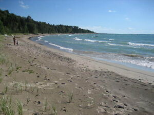 Beach Front cottage with incredible view of lake Huron
