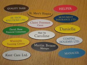 Engraved-Oval-Name-Badges-Your-text-choice-of-colours-top-quality