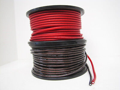 50ft Bullz Audio Black And Red 8 Gauge Power And Ground Wire Super Flexible