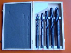 Quality 5Pce (14mm-25mm) HSS MT2 Morse Taper Drill Set