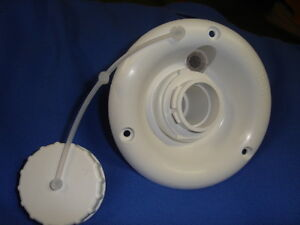 RV-camper-trailer-marine-GRAVITY-WATER-FILL-dish-NEW-white