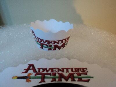 24 Adventure Time Theme Cupcake Collar Wrapper Birthday Party Favor Finn & Jake
