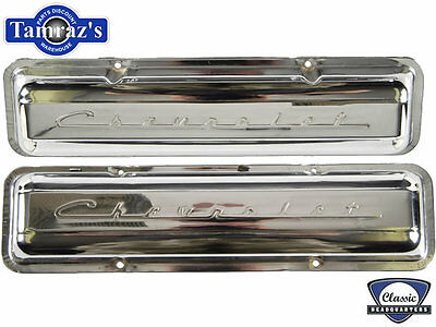 Chevrolet Script Small Block Valve Covers Chrome Pair