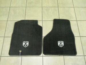 Dodge-Ram-2009-2012-Reg-Quad-Cab-FRONT-Dark-Slate-Grey-Floor-Mats-Mopar-OEM
