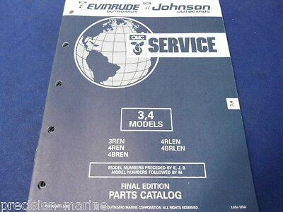 1992, 3,4 Models Parts Catalog, Evinrude/Johnson OMC