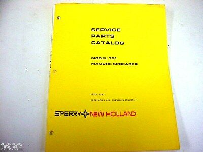 New Holland 791 Manure Spreader Manual
