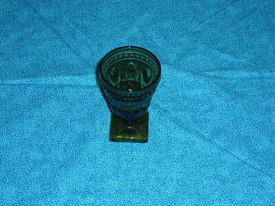 Vintage Indiana Glass Co Olive Green Colony  Park Lane Wine Goblet  on Rummage
