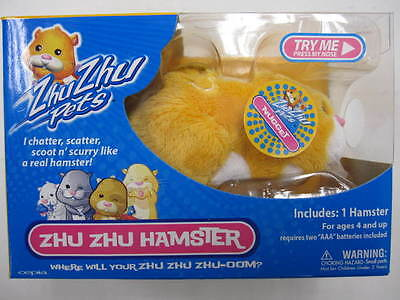 Cute New Zhu Zhu Pet Hamster NUGGET - Yellow on Rummage