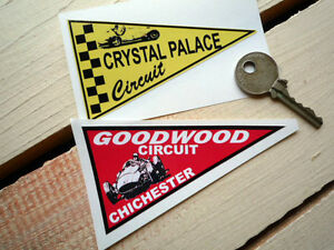GOODWOOD & CRYSTAL PALACE PENNANT  CAR STICKERS 07091