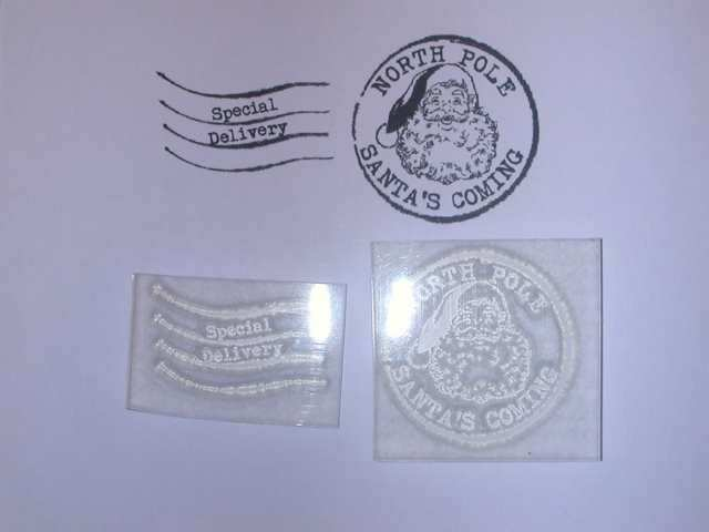Christmas Postmark Clear Stamp with Santa Face to make or personalise your Cards