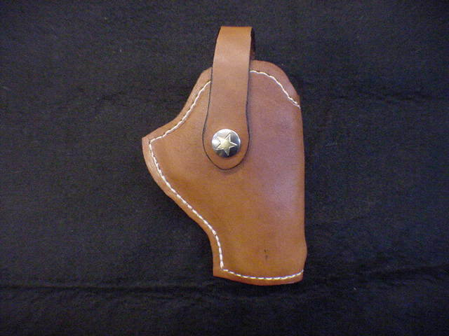 Bond Arms Snake Slayer 4 1/4 Derringer Leather belt Holster ,By Tommy Maker,SASS