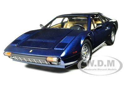 FERRARI 308 GTB BLUE 1:18 DIECAST MODEL CAR BY HOTWHEELS W1170