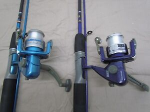 Zebco slingshot spinning rod and reel fishing combo lot of for Slingshot fishing pole