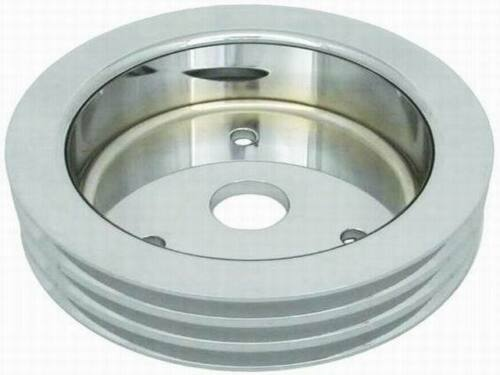 Small-Block-Chevy-Polished-Aluminum-crank-shaft-Pulley-tripple-3-groove-billet-l