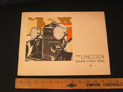 1930 Lincoln Salon Types Prestige Car Sales Brochure