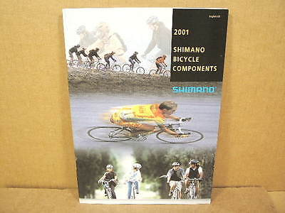 """2001 Shimano Catalog (6"""" x 8"""" and 71 Pages)"""
