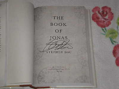 The Book Of Jonas By Stephen Dau Signed