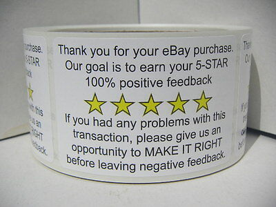Thank You For Your Ebay Purchase Fb 2X3 Stickers Labels 250 Rl