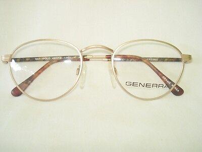 Generra Fresno Tea Cup Satin Gold Women Eyeglasses Frame 49-19-140mm