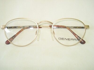 Generra Fresno Tea Cup Satin Gold Women Eyeglasses Frame 49-19-140mm