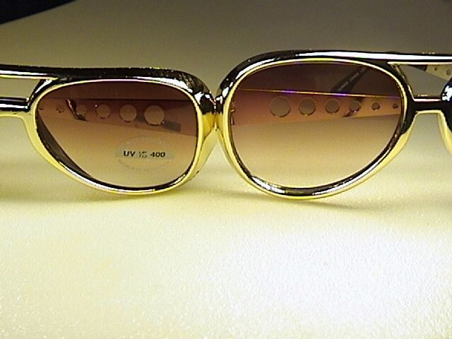 Elvis Sunglasses Single Pair Choice Bigger Or Smaller Size Gold Or Silver Frame