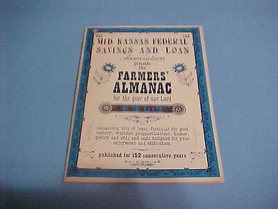 1969 Farmers Almanac Booklet Mid Kansas Federal Savings   Loan