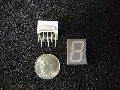 7 Segment 1 Digit Numeric Led Display Yellow Common Anode New Qty.7