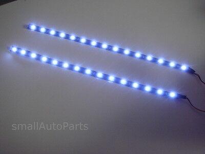 """2x 12"""" White 1210 SMD Flexible LED Light Strips for car/truck head fog lights"""