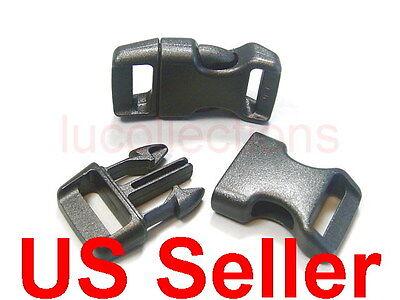"""25 5/8"""" Side Release Buckles Black Webbing Straps Paracord Bracelets H79-25"""