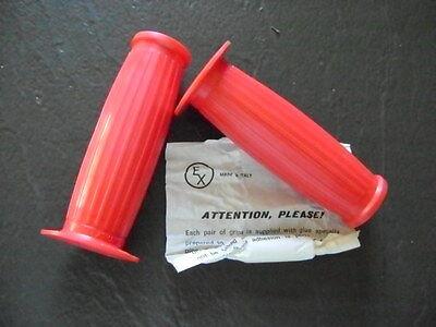Red Handlebar Grips Honda Ca95 150 Benly Cb92 305 Dream Ca77 Cb160