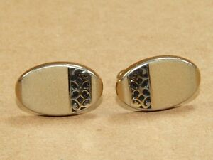 Vintage mens jewelry swank brushed gt enamel cuff links ebay for What is swank jewelry