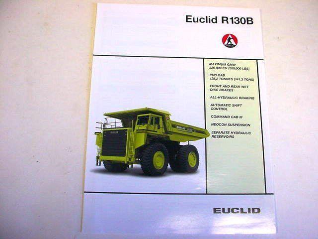 Euclid R130B Hauler Truck Literature
