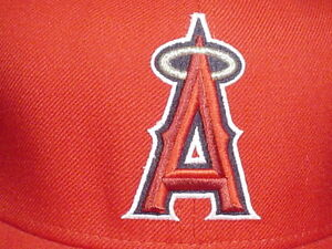NEW-ERA-AUTHENTIC-COLLECTION-ANAHEIM-LOS-ANGELES-LA-ANGELS-HAT-RED-Sz-7-5-8