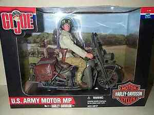 GI-JOE-12-INCH-WWII-US-ARMY-MP-MILITARY-POLICE-HARLEY-DAVIDSON-MOTORCYCLE-NIB