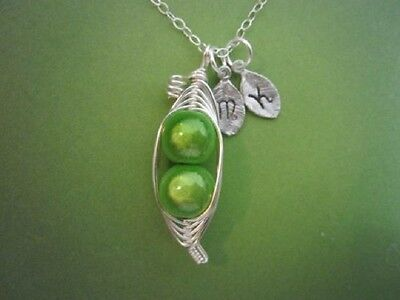 Personalized Sweet Peas In A Pod  Sterling Silver  For Mom  Sister  Best Friend
